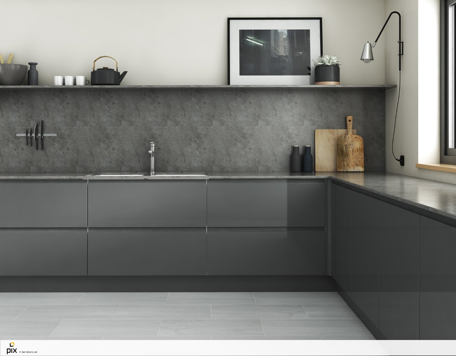 Graphite_grey_gloss_CGI_kitchens