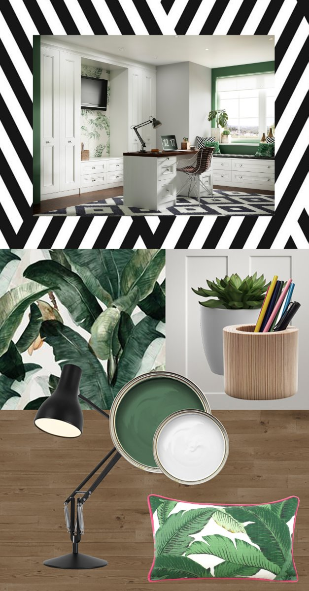 Tropical trend home office set visions