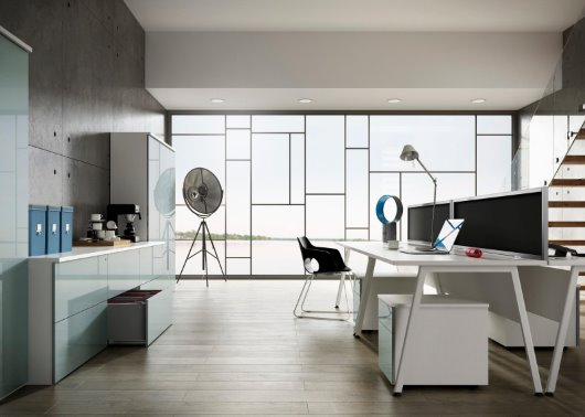 contemporary office interior CGI photography
