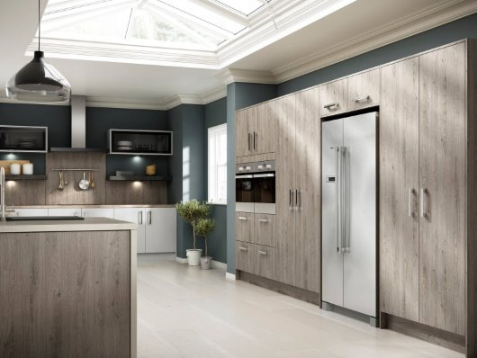 Contemporary wood kitchen