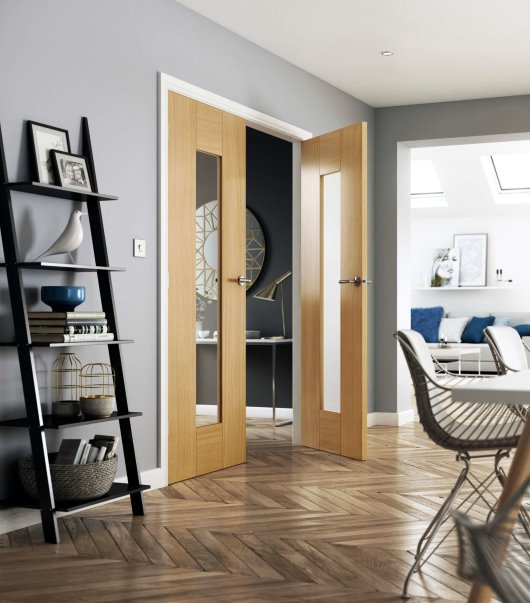 CGI interiors glazed door scandi trend