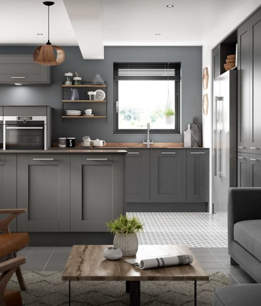 grey on grey kitchen inspiration