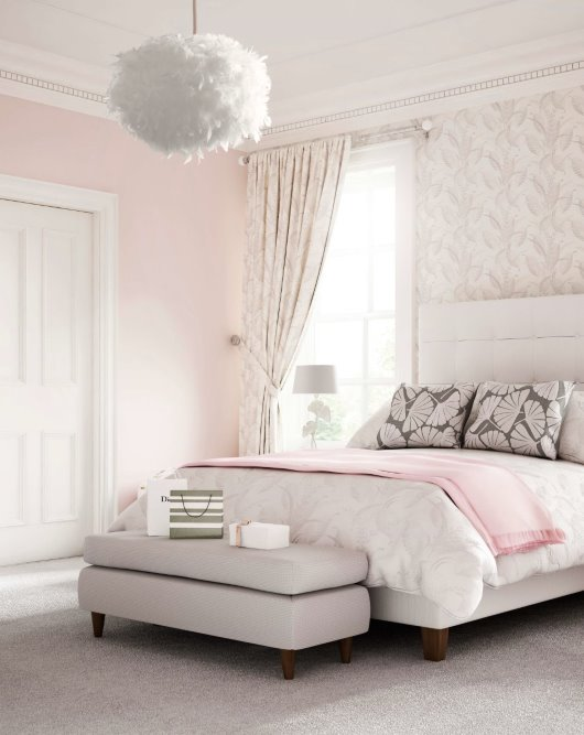 CGI Elegant bedroom high ceilings sophisticated