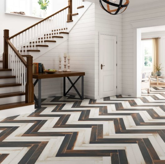 cgi flooring modern chevron wood staircase