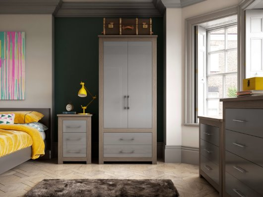 modern grey bedroom furniture period features CGI