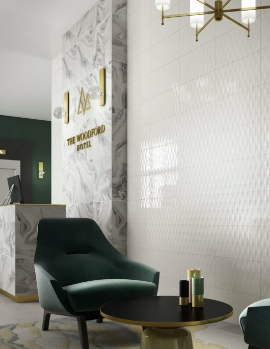 Hotel Lobby glass tiles commercial CG