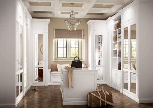 CGI dressing room design classic white period features