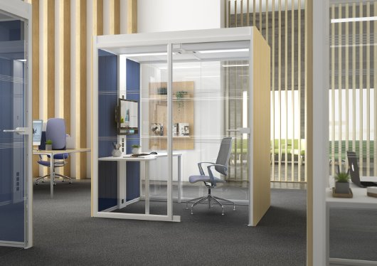 Aspect one unique freestanding working environment systems CGI