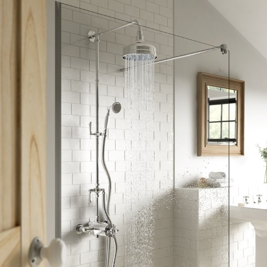 Kidlington traditional exposed thermostatic shower package with handset cgi