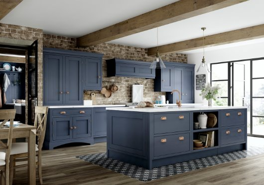 Helmsley freestanding anthracite ash veneer finish kitchen