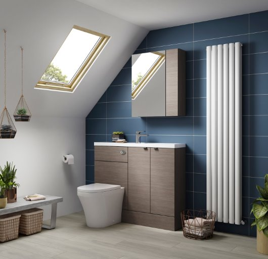 Fusion Gray Avola bathroom furniture cgi
