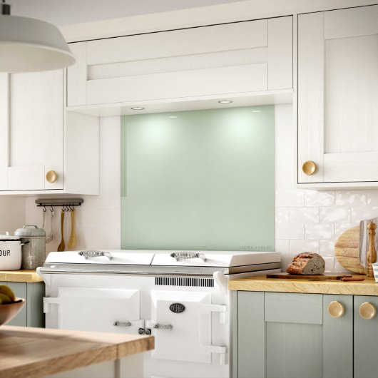 Eau De Nil Splashback core palette range in a subtle shade of green cgi