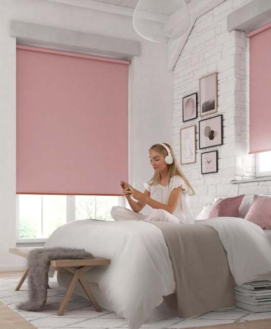 model in CGI bedroom