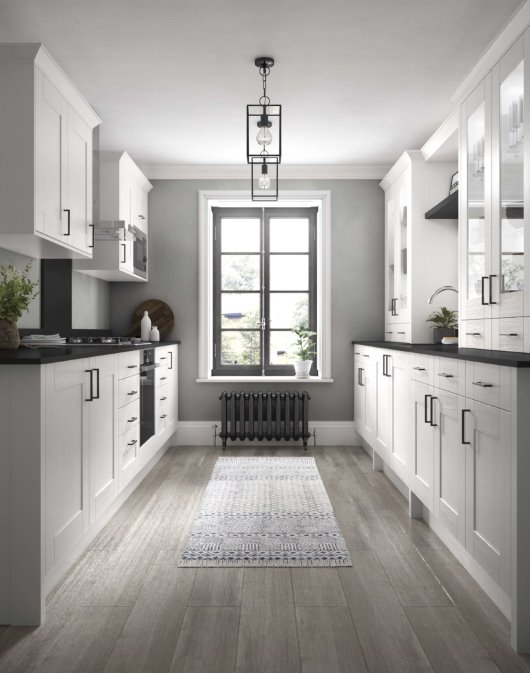 Gally kitchen photorealistic
