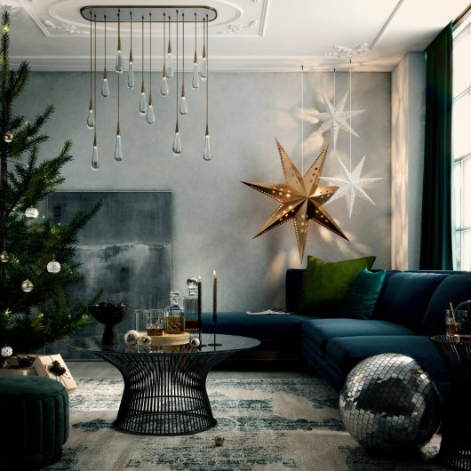 lifestyle Christmas room set CGI