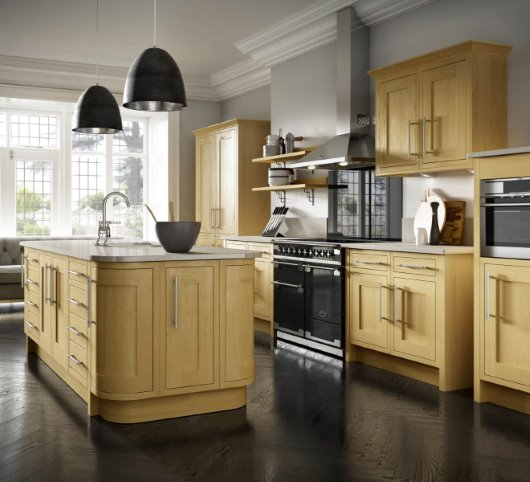 CGI Oak Kitchen roomset photography