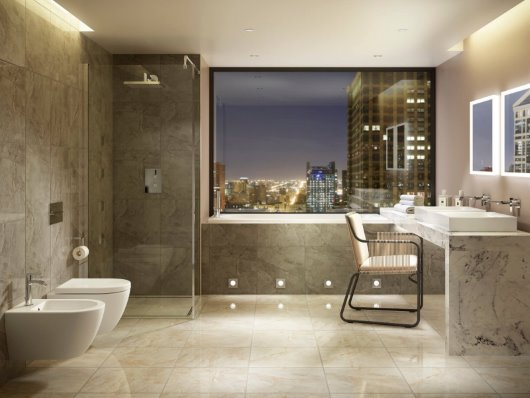 Contemporary Bathroom CGI roomset