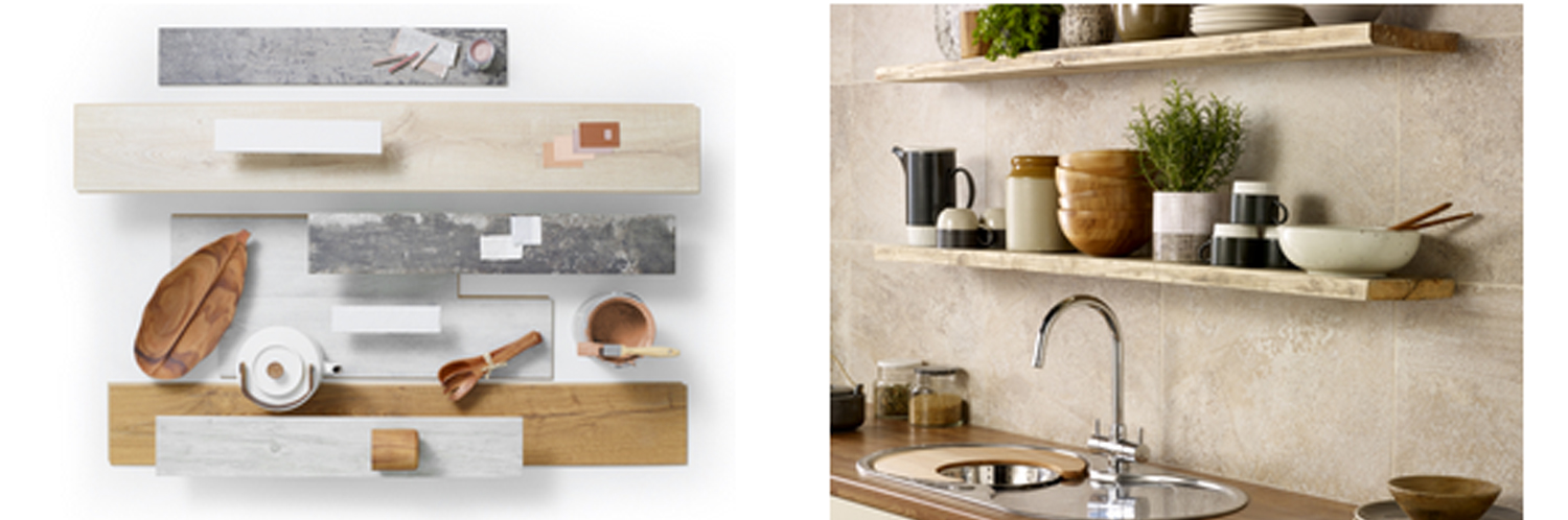 Shelfies trend textured woods