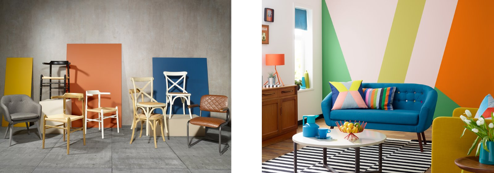 colour blocking home decor