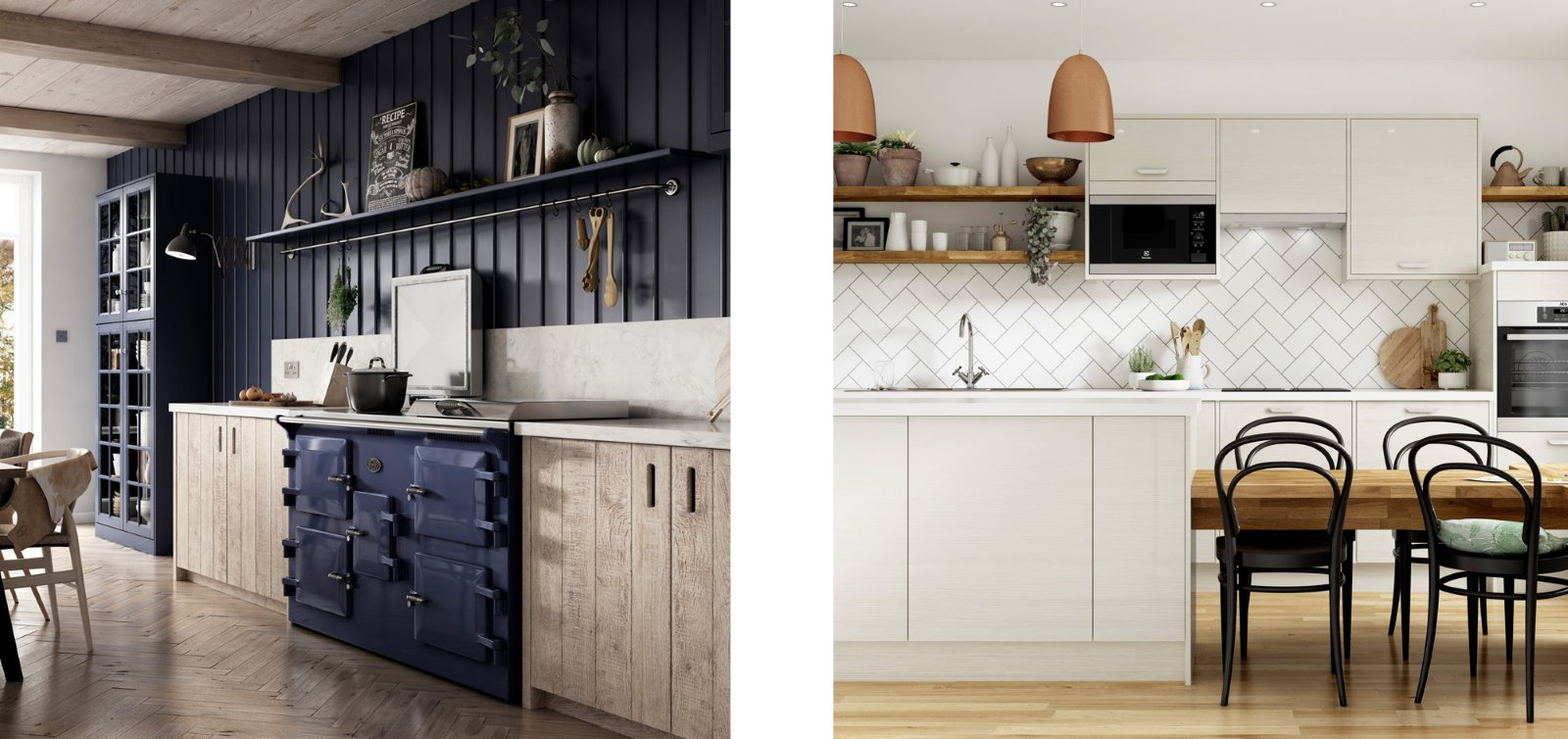 white chevron tile splashback panelling kitchen
