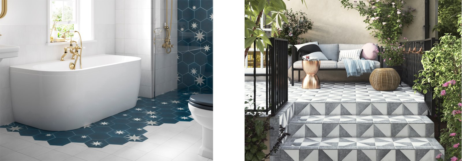 Playful patterned tiles